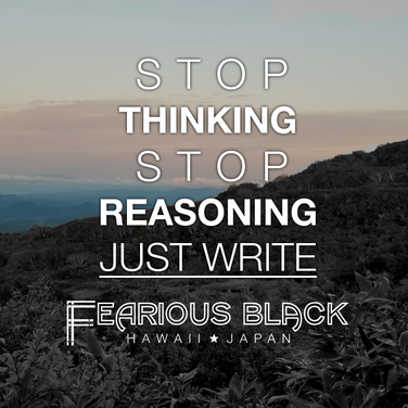 'Just Write' Motivational Print by Fearious Black