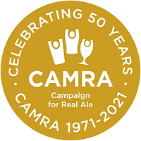 CAMRA 50th Logo - White on Gold RGB.png