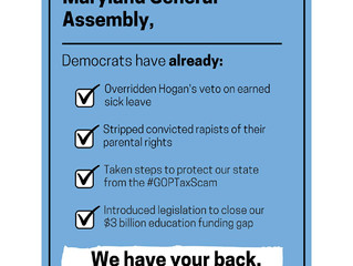 Maryland Democrats Have Your Back