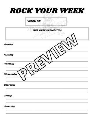 'Rock Your Week'