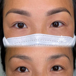 Microshading Brows  before & after