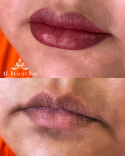 Lip Blush before & after