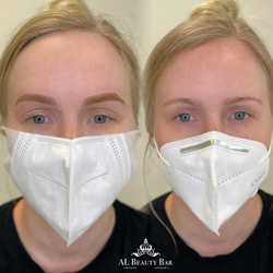 Microshading eyebrows before & after