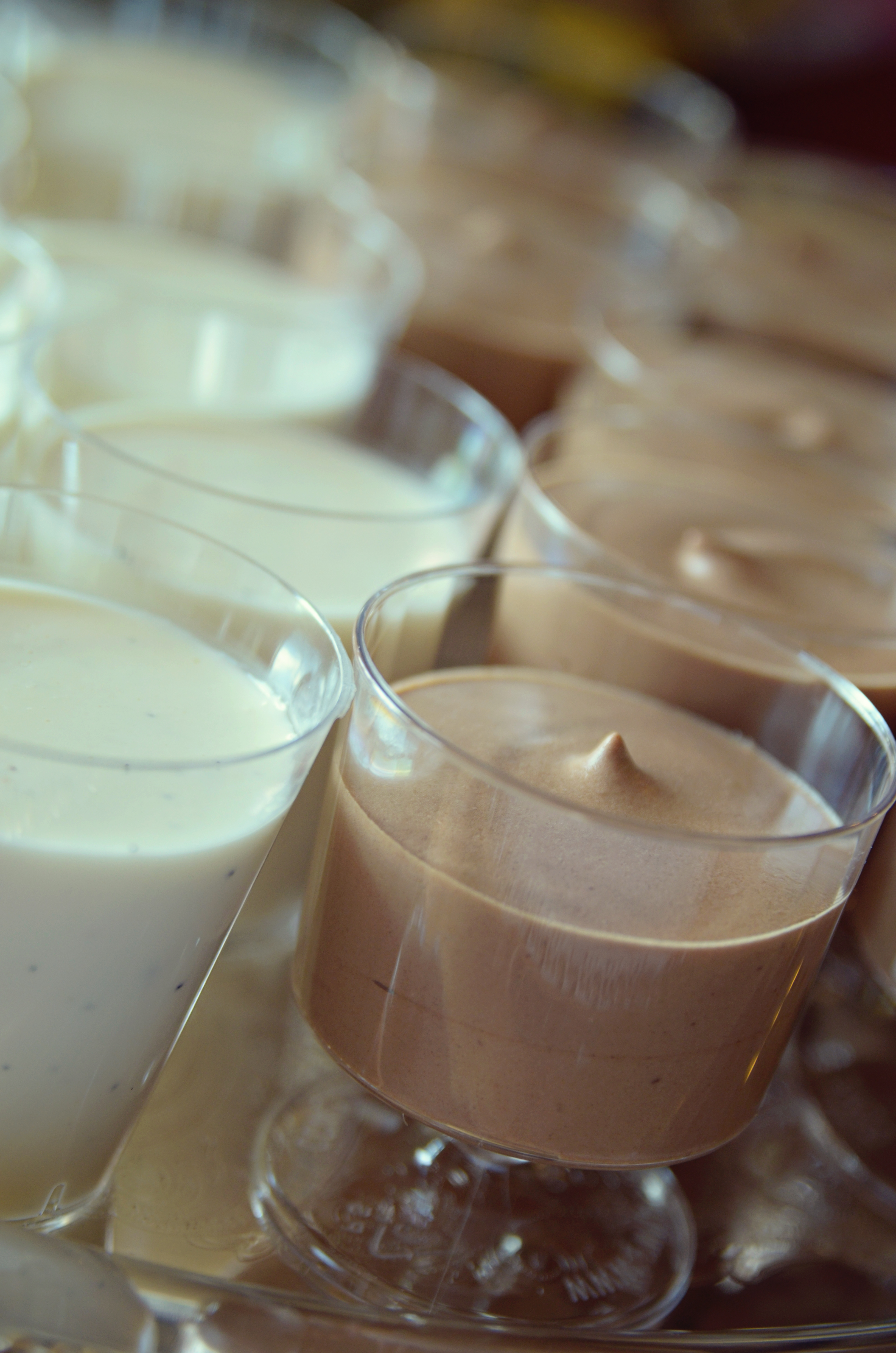 Mini Panna Cotta & Chocolate Mousse