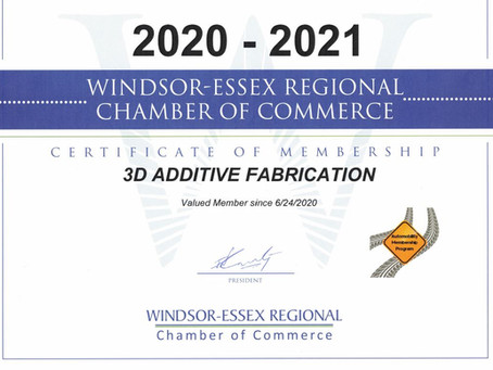 3DAF Inc Joins the Windsor Essex Chamber of Commerce