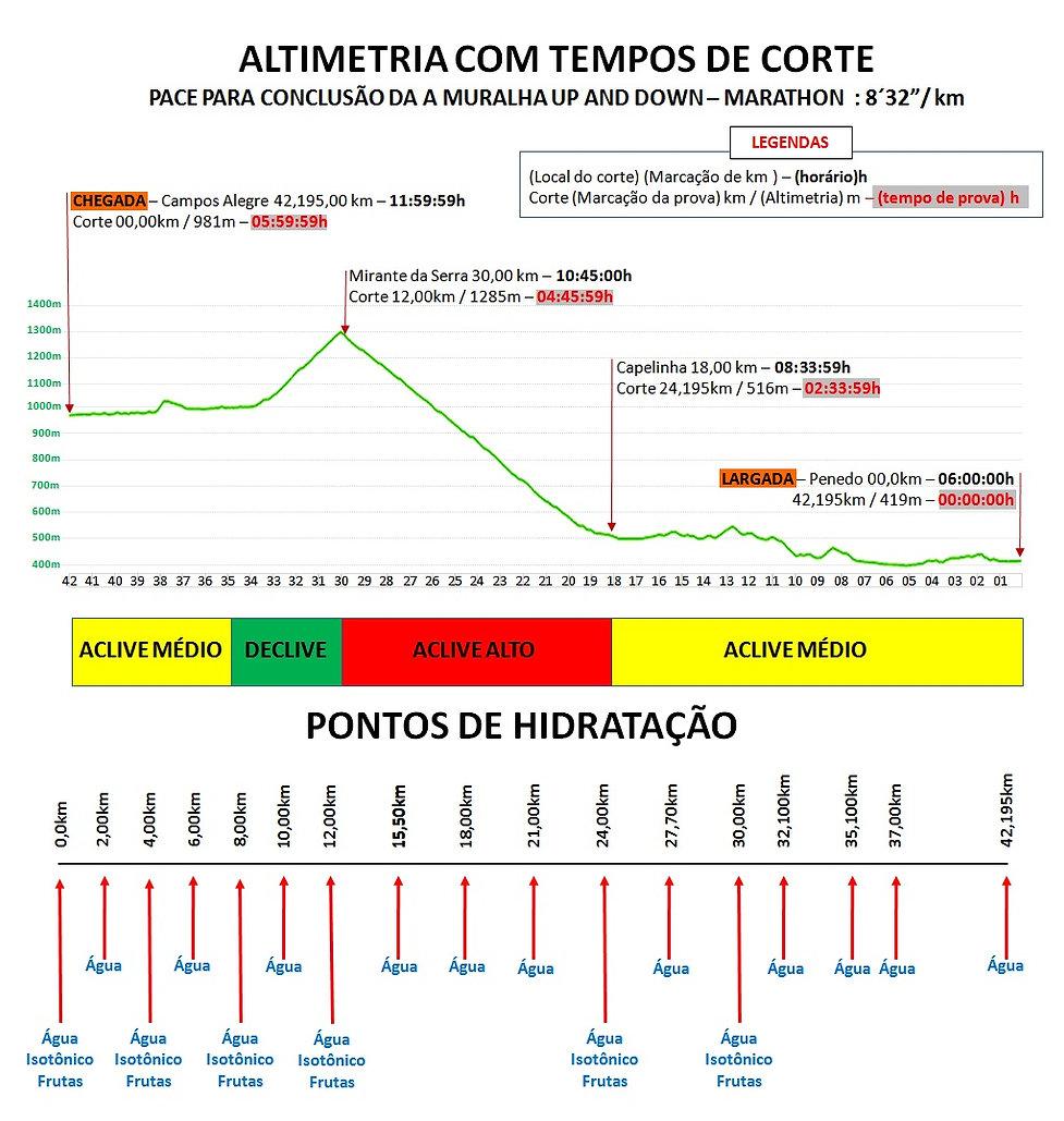 Altimetria | Penedo | A Muralha Up and Down Marathon ALTIMETRIA