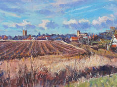Towards Orford Castle, early spring