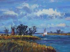 Sailing near St. Benet's Level Mill, Norfolk