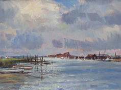 Clearing skies towards Southwold harbour