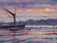Barges and Reflections, Pin Mill