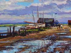 Southwold harbour after rain