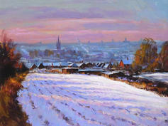 Towards Norwich Cathedral, Winter