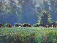 Cattle grazing on the Marsh, Halvergate