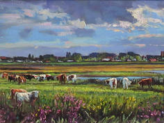 Cattle on the marshes towards Walberswick