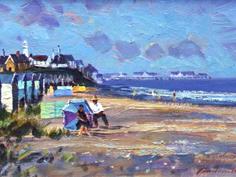 Beach huts & figures, Southwold