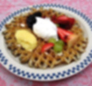 One of a kind meal from the weekly waffle breakfast