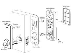 Schlage Ease S1 Smart deadbolt assembly