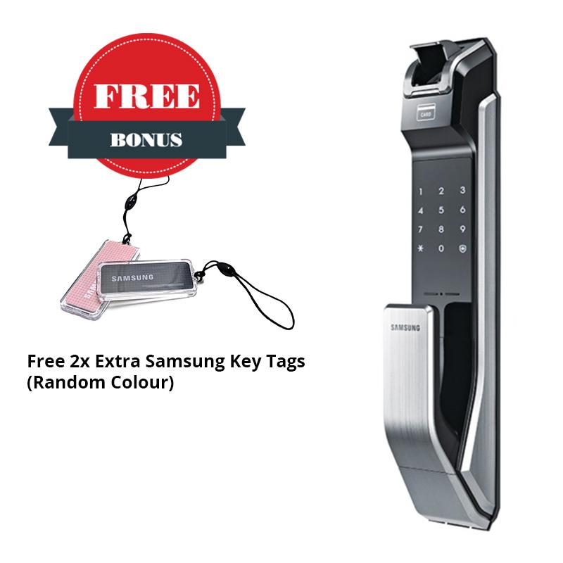 Samsung SHS-P718 Fingerprint Push Pull Door Lock | DG LOCK