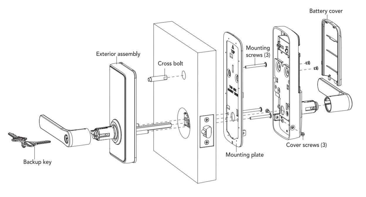 Schlage Ease S2 smart entry lock assembl