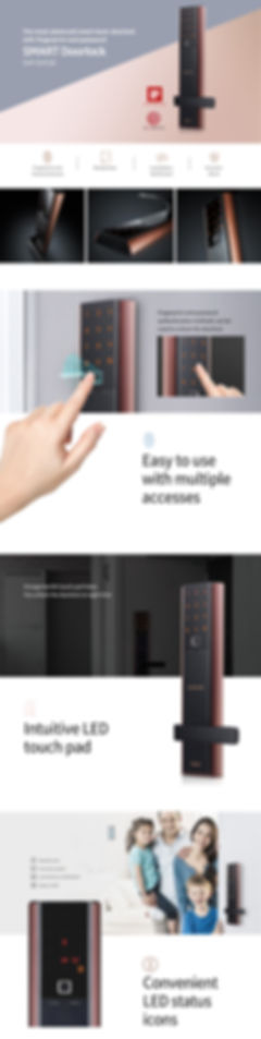 Samsung SHP-DH538 digital door lock desc