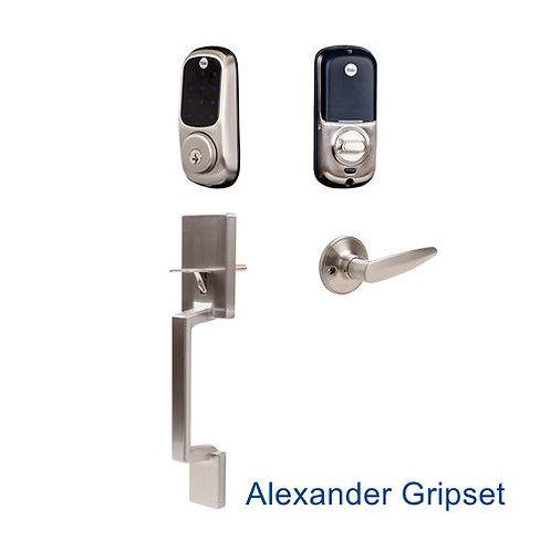 Yale Touchscreen Deadbolt And Alexander Gripset Satin Nickel