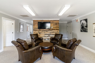Wood Accent Wall; Client Seating Area
