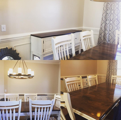 Before Shot of the Dining Room
