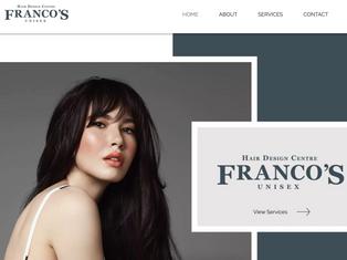 Francos Hair Salon Website Design