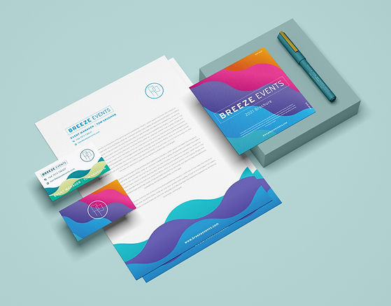 Breeze Events Business Stationary