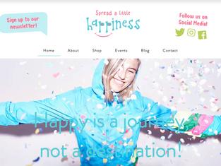 Add a Little Happiness Website Design