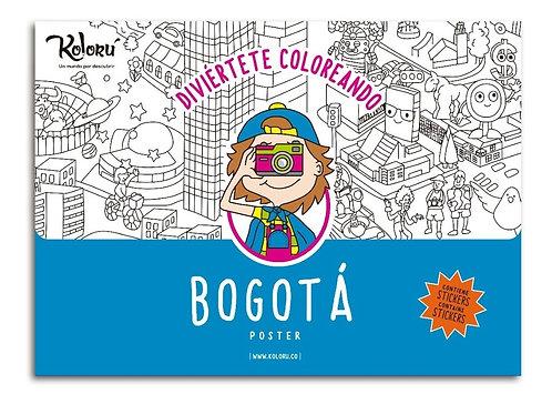 Póster para colorear Bogotá + stickers