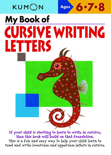 Libro kumon: Cursive writing letters