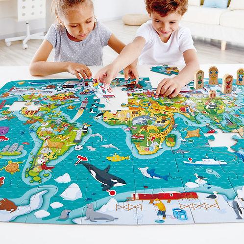 Rompecabezas y Juego 2 en 1 Alrededor del Mundo