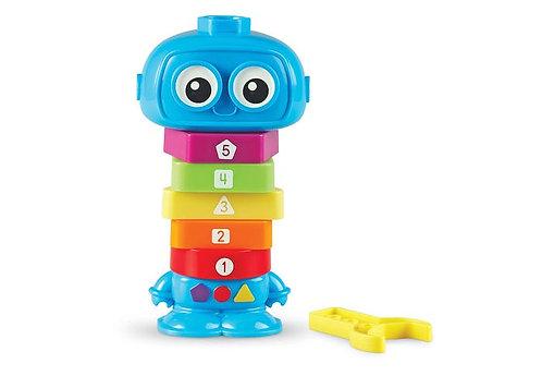 Robot de juguete cuenta y construye