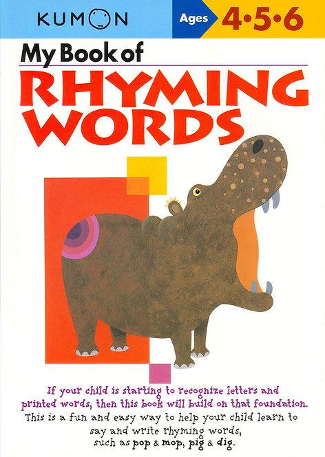 Libro Kumon My Book Of Rhyming Words