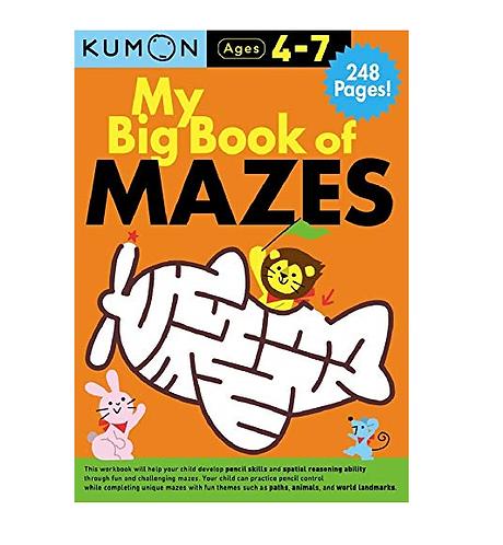 Libro Kumon My big book of mazes