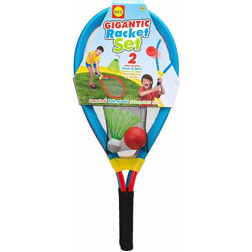 Raquetas grandes con pelotas