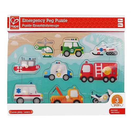 Rompecabezas con pin vehículos de emergencia