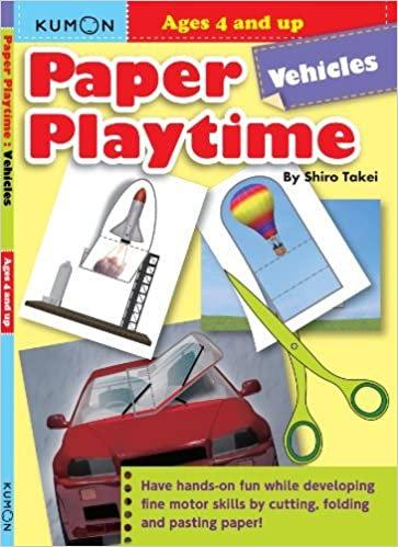Libro Kumon Paper Play Time Vehicle