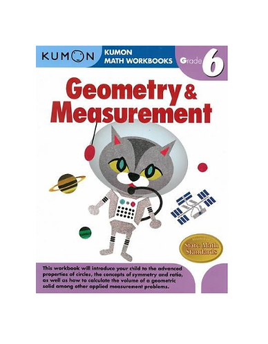 Libro Kumon Geometry and measurement grade 6