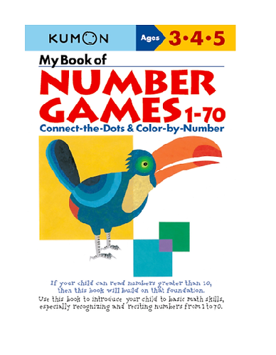 Libro Kumon My book of number games 1-70