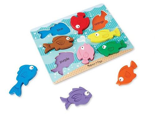 Encajable los colores de los peces