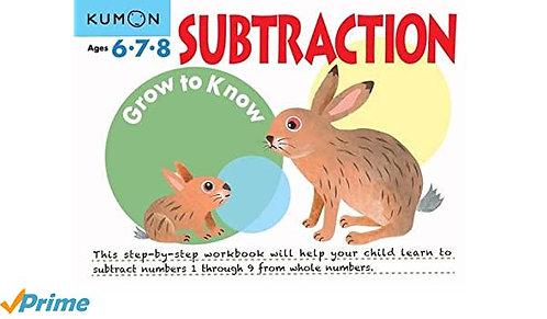 Libro kumon Grow to know substraction