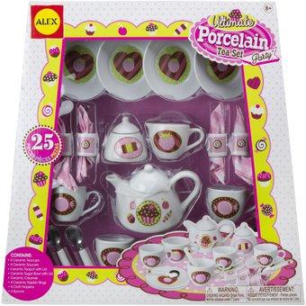 Set juego de té en porcelana