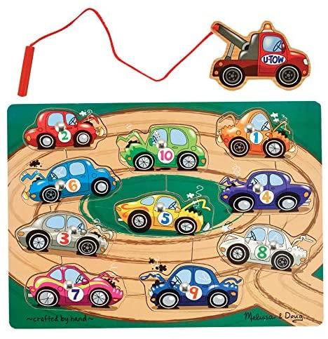 Rompecabezas magnético carros con grúa