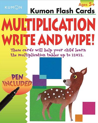 flashcards kumon: Multiplication write and wipe