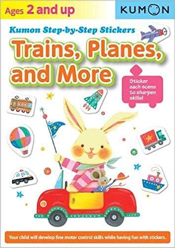 Libro kumon: Trains, planes and more