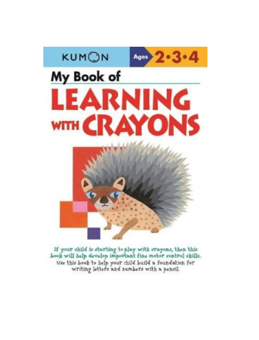 Libro Kumon My book of learning with crayons