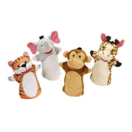 Títeres de mano: Amigos del zoológico