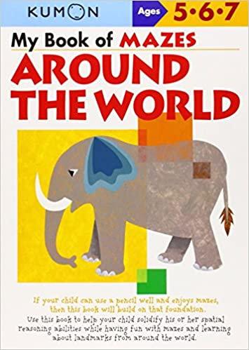 Libro Kumon My Book of Mazes Around the World